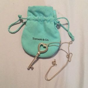 Tiffany & Co Beaded Heart Pendant with chain